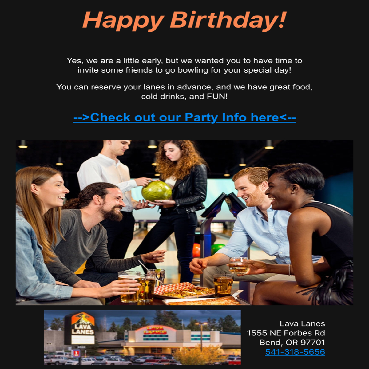 birthday greeting email